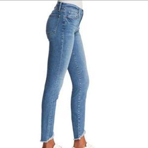 FRAME Le Skinny de Jeanne Crop Ankle Jeans Raw Hem